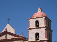 Bell tower of the mission.
