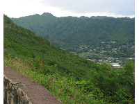 Views of Manoa Valley from tantalus