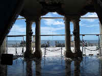 East Loggia, looking out on Biscayne Bay.