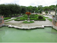 Green pool and parterres.
