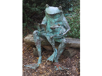 Frog sculpture in the children's garden.
