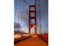 The path on the Golden Gate, just before nightfall.