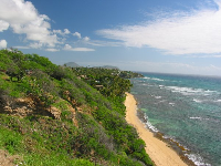 Diamond Head Beach as seen from the overlooks.