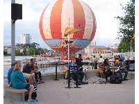Live music by the water.