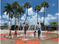 Bring beach balls to play with in the splash pad!