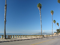 The boardwalk at Butterfly Beach.