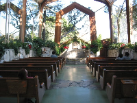 The peaceful interior of the chapel.