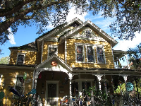 Yellow Victorian home.