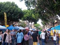 Thursday night farmer's market on Higuera Street.