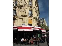 Typical Paris scene- enjoying a blissful day at a brasserie.