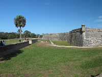 Spacious grassy areas abound at the Castillo.