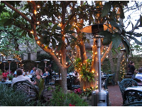 The lovely patio at La Pentola restaurant.