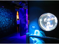 The upstairs jellyfish exhibit.
