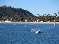 View of The Mesa, from Stearns Wharf.