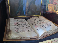 Huge religious songbook that dates to the 16th century.