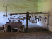 The candle-making room.