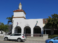 Casa Blanca Restaurant and Dawn Patrol Cafe are located right where State Street passes under the freeway.