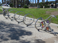 Fish bike rack- pretty!