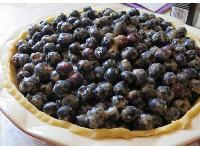 Blueberry pie, almost ready to be baked.