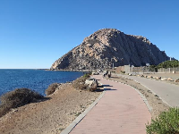 The harborwalk path, that leads from Embarcadero (the main tourist area) to Morro Rock.
