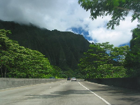 Heading up the H3 from the Kailua side.