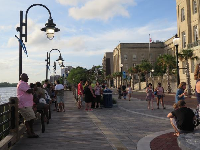 End of Market Street, where the Riverwalk begins.