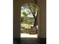 A lovely scene through an archway. I love Spanish arches!