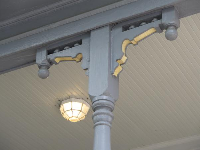 Banister of William E. Worth house, a Queen Anne style house built in 1912.