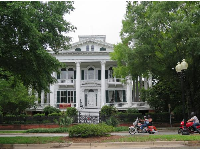 Bellamy Mansion Museum, and bikers.
