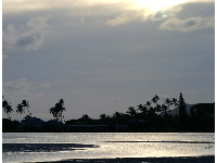 Paiko Lagoon, to the west of Kuliouou park, at dusk.