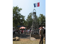 The eiffel tower at the French Festival.
