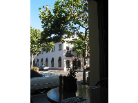 Lovely view from Rosine's Italian Restaurant on Alvarado Street- delicious food too!