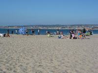 Del Monte Beach on a rare warm Summer evening!