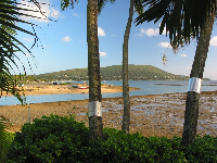 View of Koko Head and Maunalua Bay from the strip of sand to the east of Kuliouou Beach Park.