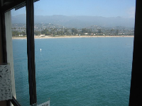 View of Santa Barbara from the sea center.