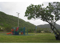 Clouds gather in the valleys of Hawaii, and Kamiloiki Neighborhood Park is often overcast.
