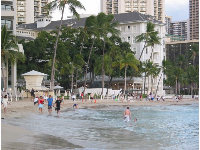 A walk in front of the beautiful Moana Surfrider Hotel, the oldest hotel in Waikiki.
