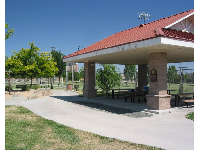 The gazebo, a great place to picnic.