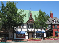 The beautiful architecture in Solvang.