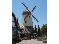 Windmill in Solvang town.