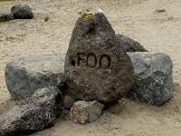 Memorial to Mark Foo, big wave surfer who died at Mavericks- a sad story.