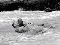 "Burt Lancaster and Deborah Kerr in the 1953 movie that gives this beach it's name, ""From Here to Eternity."""