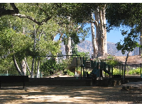 The toddler playground and swings at Escondido Park.