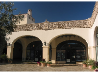 The embellished friezes of San Marcos Courtyard.