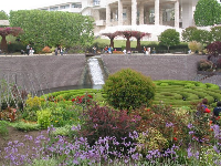 The Central Garden with its stone waterfall, or chadar, and floating maze of azaleas.