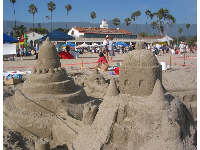 Beautiful sand castles...aaah this is the life!