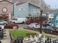 The trolley, in Morro Bay town.