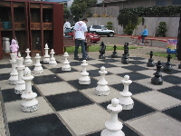Chess game at Centennial Park.