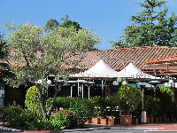 Restaurant in the southwest shopping square at Upper Montecito Village.