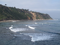 Surfers enjoying the consistent waves.